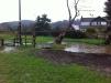 Fownhope rec ground pond flood