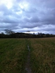 Wet walk home from AlfordsMill