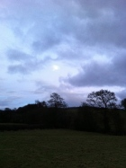 Moon appears at Alfords Mill