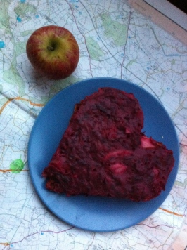 Beetroot and apple mumpet