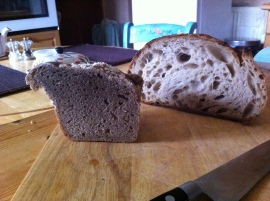 Soda bread and sourdough