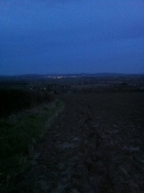 Lights of Ledbury from Marcle Ridge