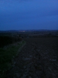 Lights of Ledbury from Marcle Ridge