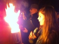 Esme with wassail torch