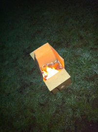 One of the twelve fires (in a cardboard box)