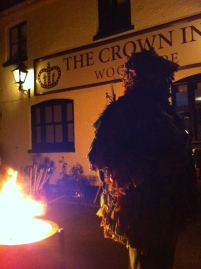Landlord Matt in costume outside the Crown