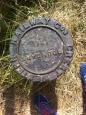 Disused railway boundary marker