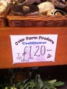 Over Farm cauliflower