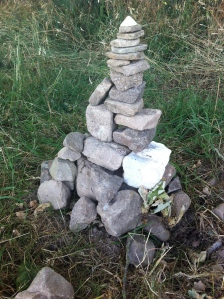 Cairn on the Wysis Way
