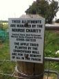 Lea allotments sign
