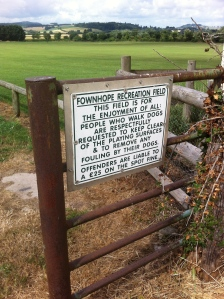 Fownhope rec ground: 'for the enjoyment of all'