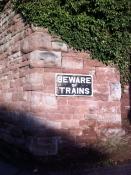 Phantom train sign, Ross-on-Wye