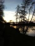 Sunset over River Wye atIngestone