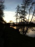 Sunset over River Wye at Ingestone