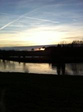 Sunset over River Wye at Ingestone 2