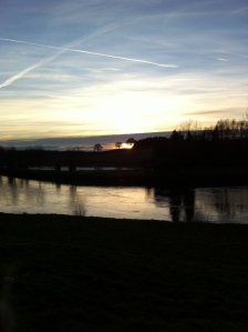 Sunset over River Wye at Ingestone 2